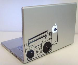 Оклейка крышки ноутбука