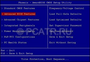 Advanced BIOS Features