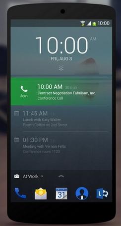 Экран заставки Android 5 lollipop