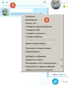Позвонить в скайп