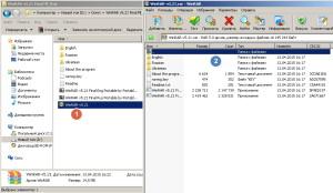 Открытие архивного файла в WinRar